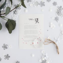 Helping Others: personalised FAIRY Letter 011 magical letters on exquisite 100% recycled paper from the International Elf Service