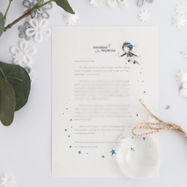 Feeling Shy: personalised FAIRY Letter 012 magical letters on exquisite 100% recycled paper from the International Elf Service
