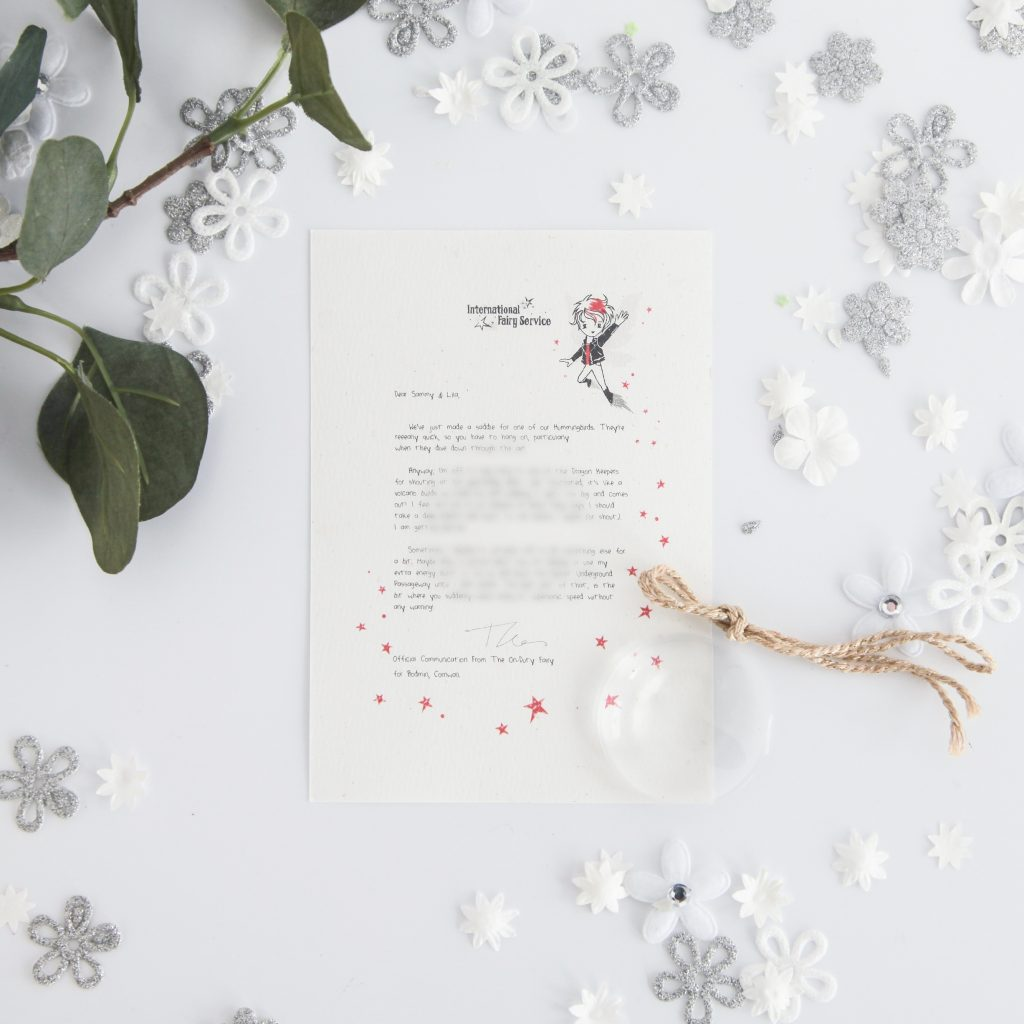 When You're Feeling Cross: personalised FAIRY Letter No. 14 magical letters on exquisite 100% recycled paper from the International Elf Service