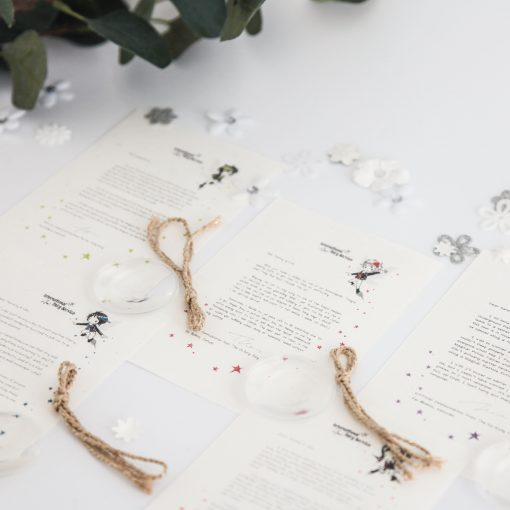 Personalised FAIRY Letter Bundle No. 03 - magical letters on exquisite 100% recycled paper from the International Elf Service