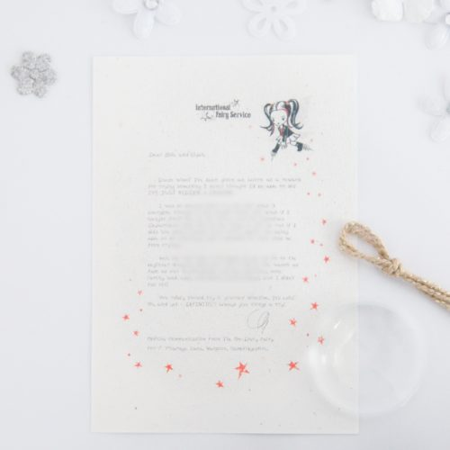 Fear Of Failure: Personalised FAIRY Letter No. 17 - magical letters on exquisite 100% recycled paper from the International Elf Service