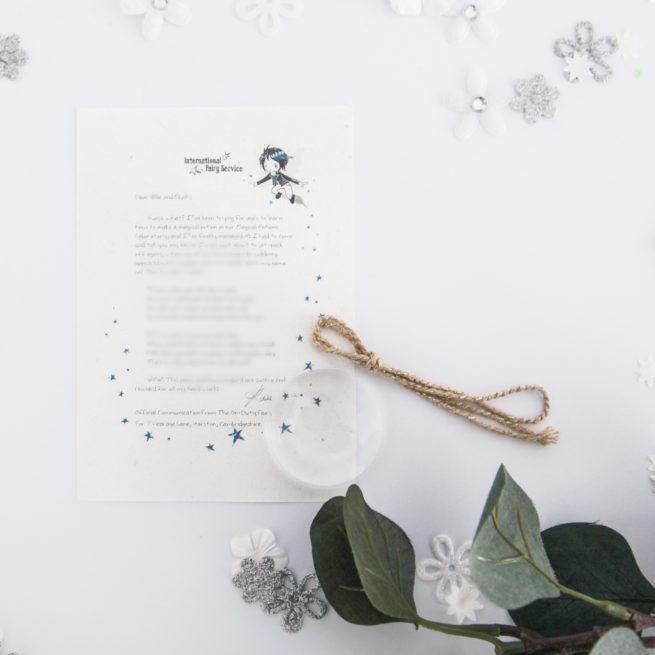 Don't Give Up: Personalised FAIRY Letter No. 18 - magical letters on exquisite 100% recycled paper from the International Elf Service