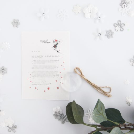 Trying Your Best: Personalised FAIRY Letter No. 19 - magical letters on exquisite 100% recycled paper from the International Elf Service