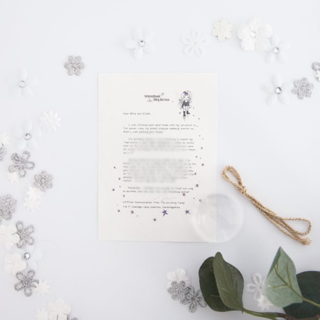 Mistakes Can Be A Good Thing: Personalised FAIRY Letter No. 20 - magical letters on exquisite 100% recycled paper from the International Elf Service