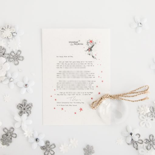 Bereavement and Missing Loved Ones: Personalised FAIRY Letter No. 21 - magical letters on exquisite 100% recycled paper from the International Elf Service