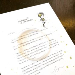 A magical personalised letter from the Fairies, wishing your child a very Happy Birthday! Each letter comes with a Dew Drop Magnifying Lens, and a length of golden sparkle twine so you can tie it up like a parcel. An extra special and intriguing delivery!