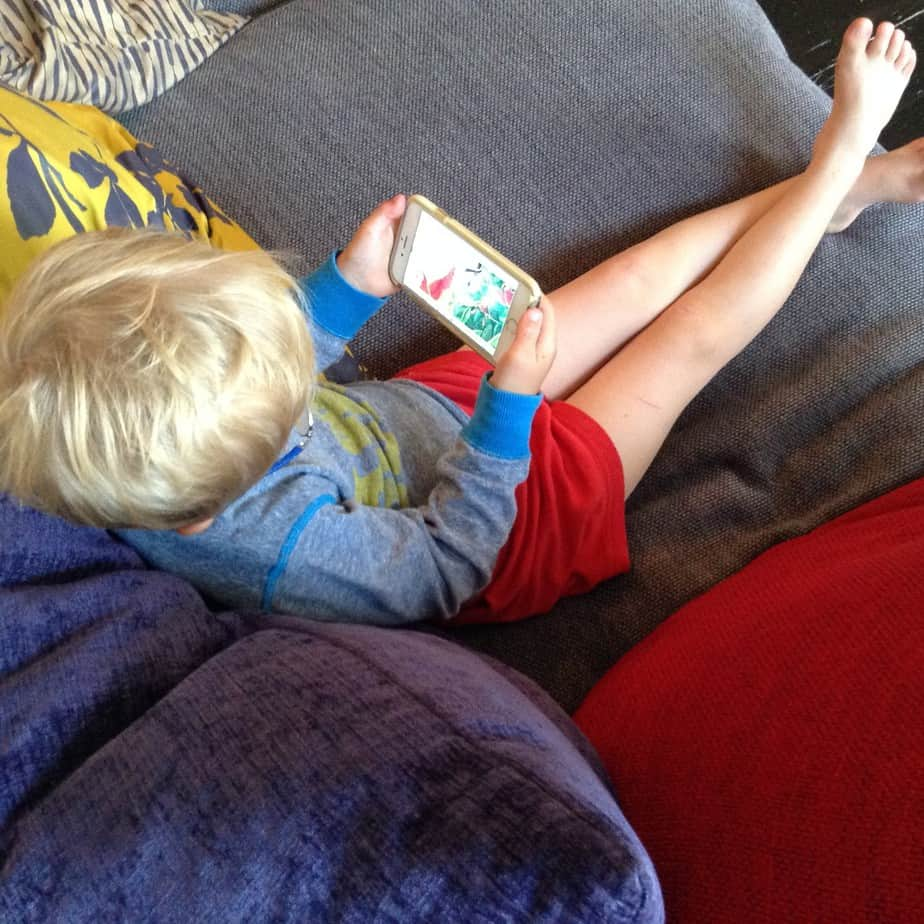 Doing story time with the kids when you can't be there!