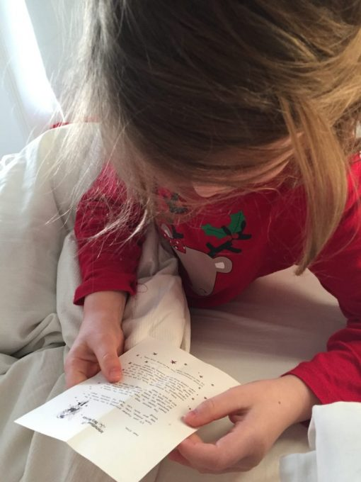 Reading a Birthday Fairy Letter from the International Fairy Service