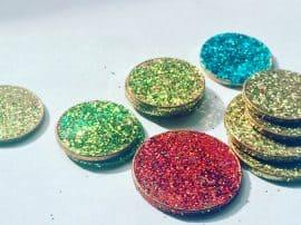 Magical Glittery DIY North Pole or Tooth Fairy Coins