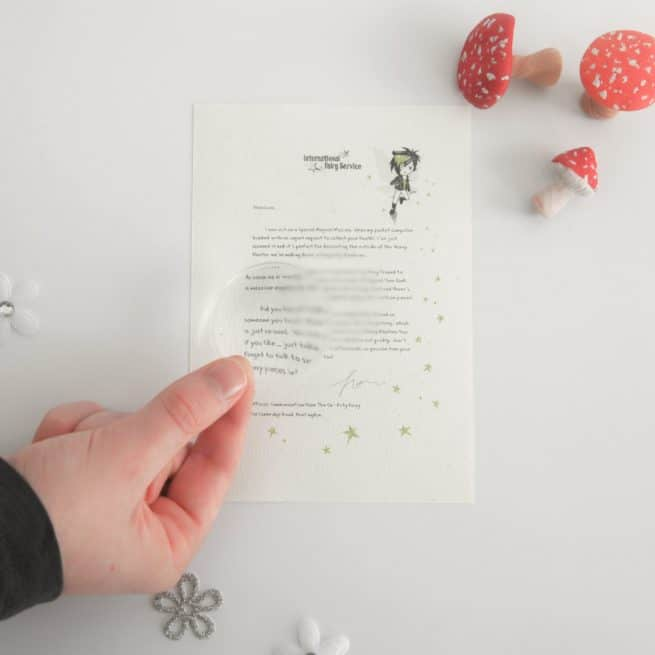 Personalised Fairy Letter Bundle to help children following a bereavement