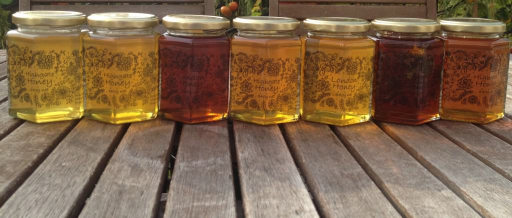 Prize Winning Highgate Honey from the honey bees we keep on our roof!