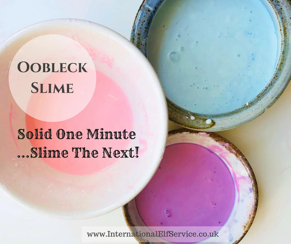 How to make Oobleck slime. Fun, fascinating and so easy to make! by the International Elf Service