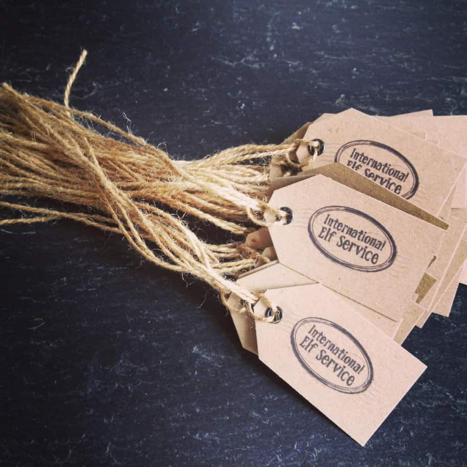 Gorgeous International Elf Service Christmas Parcel Tags With Twine