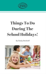 FREE eBook containing over 80 activities & crafts for children to do over the school holidays!