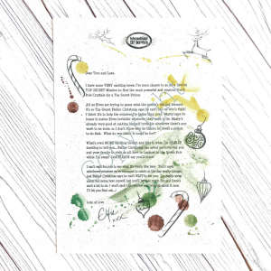 Personalised Invitation to Lapland from the International Elf Service. On 100% recycled paper and hand-drawn illustrations.