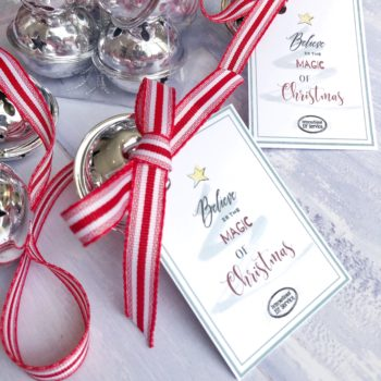 Silver-coloured Magical 'Believe' Christmas Sleigh Bell