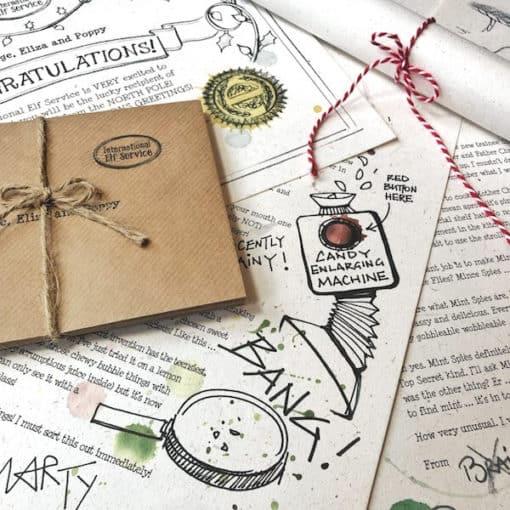 North Pole Christmas Letter Bundle - an Advent Elf Letter Bundle for the countdown to Christmas from the International Elf Service