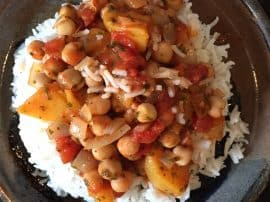 Peach & Chickpea Curry