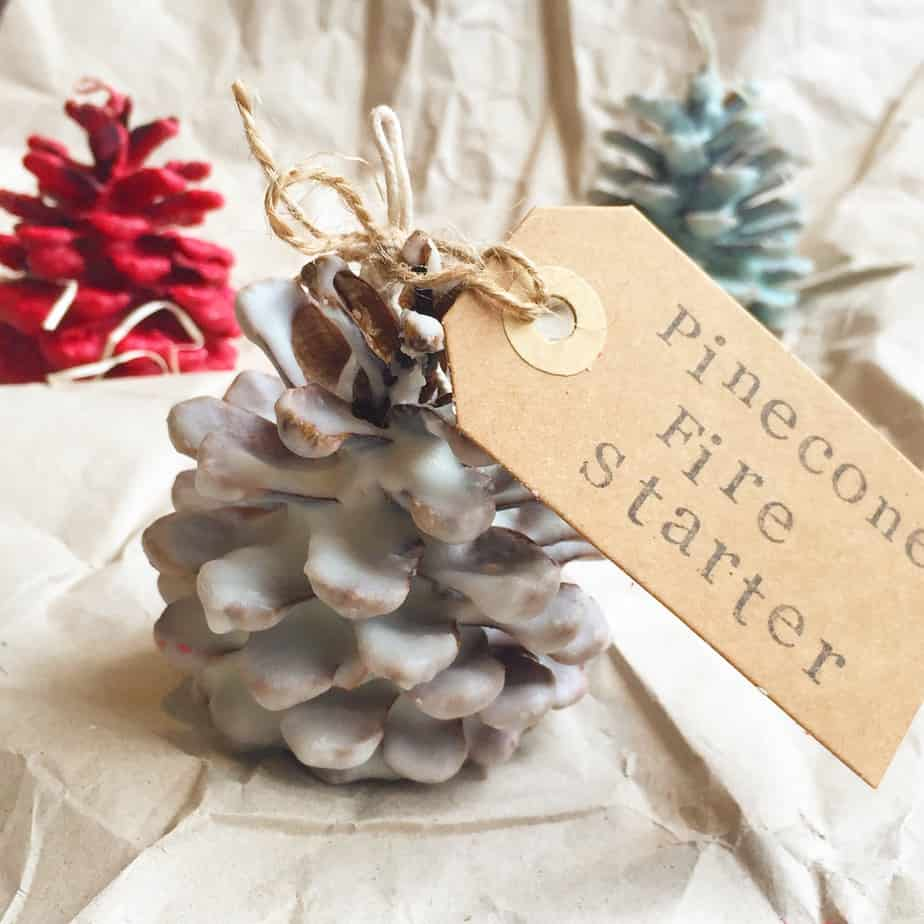 Pinecone Fire Starters are a wonderful homemade Christmas Gift. Gorgeous as Christmas Decorations too. Photos by the International Elf Service