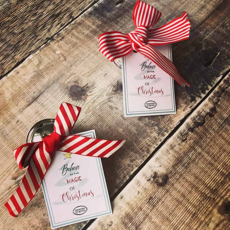Polar Express I believe Christmas bell tag free printable - Believe In The magic Of Christmas Printable by the international Elf Service