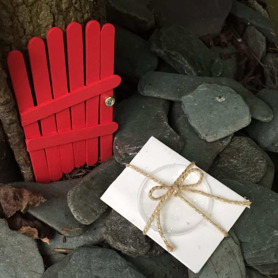 DIY Popsicle stick magical Fairy & Elf Doors. So simple and the definitely don't need to be perfect! Approved by the International Elf Service & International Fairy Service. A magical Fairy Letter has been delivered!