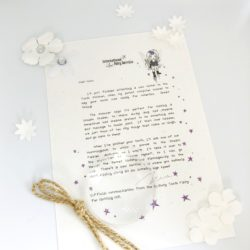 Personalised Fairy Letters with parenting tips on standing up for yourself if you're being bullied woven through, from the International Elf Service. A perfect addition to that well loved childhood tradition where the fairies leave a personalised fairy letter for your child to discover.