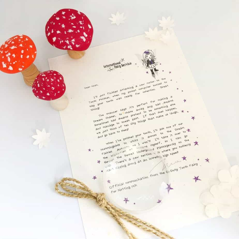 Helpful Fairy and Tooth Fairy Letters from the International Elf Service