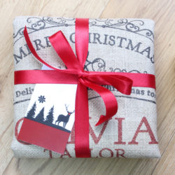 Amazingly magical personalised Christmas sacks in fine woven hessian, offered by the International Elf Service