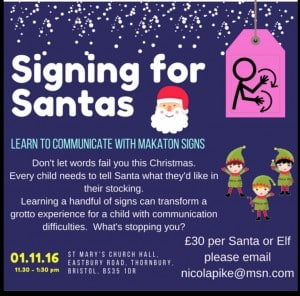 Signing For Santas - Guest post by Nicola Pike for the International Elf Service. Why and how to get Santas signing in their grottos!