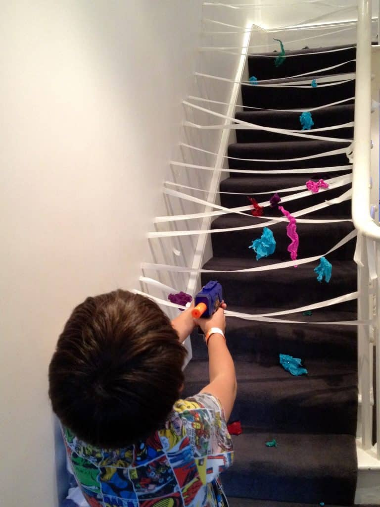 Sticky Spider Web Indoor or Outdoor Activity - Shooting Spiders