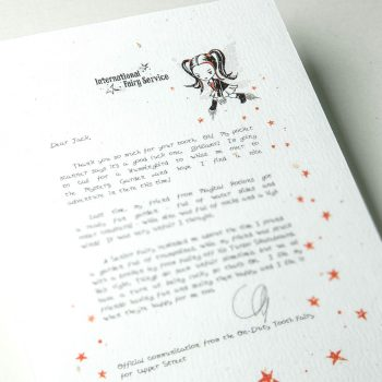 Tooth Fairy Letters No. 6 Fairness - By the gang of super cool tooth fairies at the international fairy service. Also avilable as a fairy letter. International Tooth Fairy Service