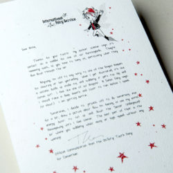 The International Elf Service delivers magical Fairy & Tooth Fairy Letters, designed to support Children's Emotional Health and Development. This letter is all about when you're feeling cross.
