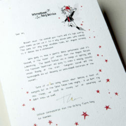 The International Elf Service delivers magical Fairy & Tooth Fairy Letters, designed to support Children's Emotional Health and Development. This Fairy letter is about trying new things