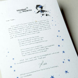 The International Elf Service delivers magical Fairy & Tooth Fairy Letters, designed to support Children's Emotional Health and Development. This Fairy letter is about not giving up.