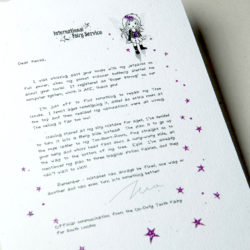 The International Elf Service delivers magical Fairy & Tooth Fairy Letters, designed to support Children's Emotional Health and Development. This Fairy letter is about mistakes can be a good thing!