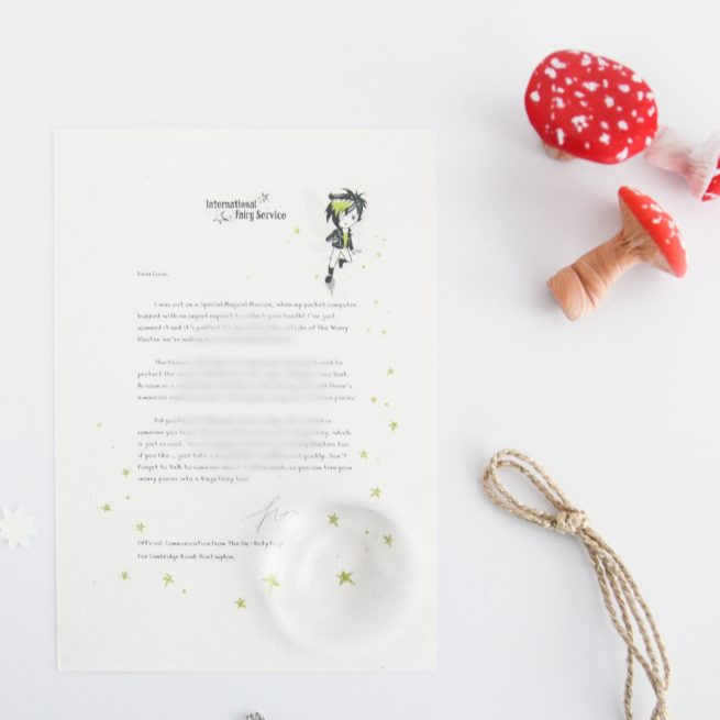 Worry Blaster: a personalised, magical Tooth Fairy letter from the International Elf Service. Designed to help support your child's emotional health and development.