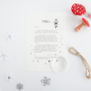 Dream Chaser: a personalised, magical Tooth Fairy letter from the International Elf Service. Designed to help support your child's emotional health and development.