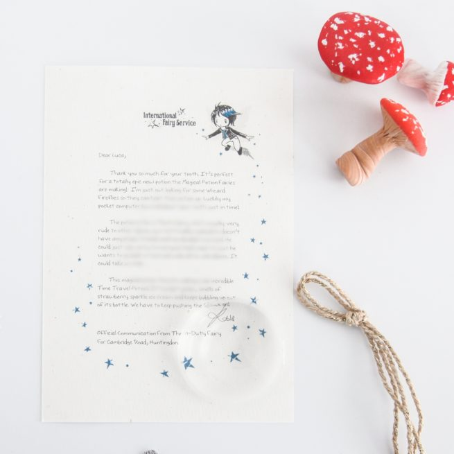 Unkindness & Feeling Sorry: a personalised, magical Tooth Fairy letter from the International Elf Service. Designed to help support your child's emotional health and development.