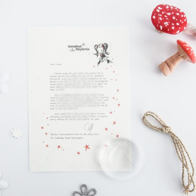 Talking Calmly When Cross: a personalised, magical Tooth Fairy letter from the International Elf Service. Designed to help support your child's emotional health and development.