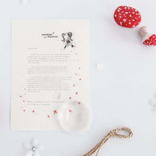 Fairness - Personalised Tooth Fairy Letter from the International Elf Service, on 100% recycled paper