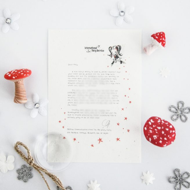 Helping Others: a personalised, magical Tooth Fairy letter from the International Elf Service. Designed to help support your child's emotional health and development.