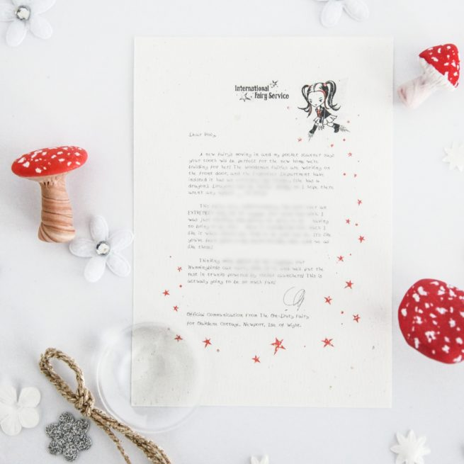 Helping Others : a personalised, magical Tooth Fairy letter from the International Elf Service. Designed to help support your child's emotional health and development.