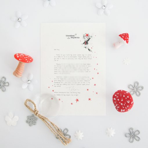 Feeling Cross: a personalised, magical Tooth Fairy letter from the International Elf Service. Designed to help support your child's emotional health and development. On 100% Recycled Paper.