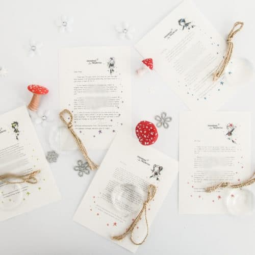 Personalised Tooth Fairy Letter Bundle from the International Elf Service, on 100% recycled paper