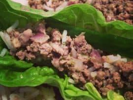 Thai Mince Lettuce Wraps