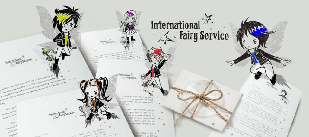 Unusual Fairy & Tooth Fairy Letters from the International Fairy Service. All with streetwise advice woven through each one!