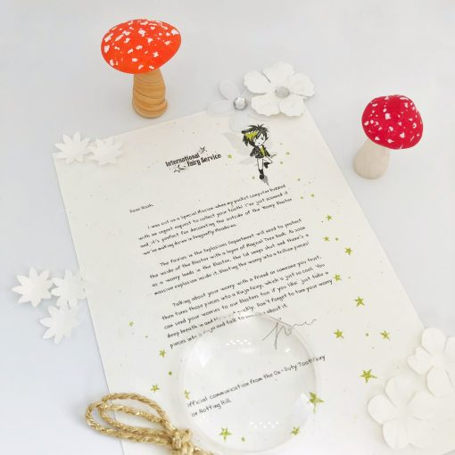 Personalised Fairy Letters with parenting tips woven through, from the International Elf Service. A perfect addition to that well loved childhood tradition where the fairies leave a personalised fairy letter for your child to discover.