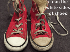 How To Clean The White Sides of Shoes!