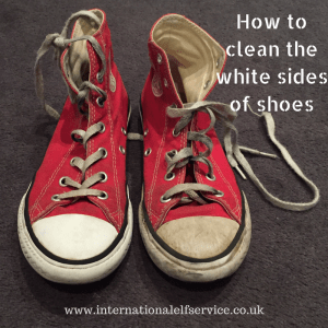 How to clean the white sides of shoes using something you probably have at home anyway!