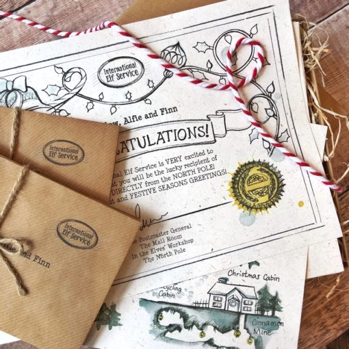 Enchanting handcrafted personalised Advent Elf Letters (daily updates written by an Elf in the North Pole) - the original magical Christmas Tradition from the International Elf Service that encourages your children to read!
